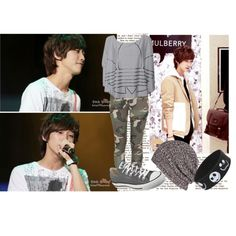 jinyoung by sehunlovesluhan on Polyvore featuring polyvore fashion style adidas Stussy Converse Disney AllSaints korean world wide kpop fashion jinyoung korean fashion fashion style korea b1a4 kpop music