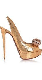 Christian Louboutin  Metal Nodo 150 watersnake slingbacks