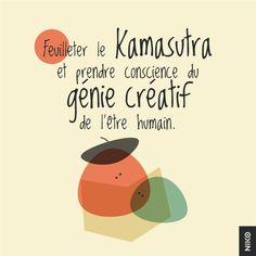 NIKO – Graphic Designer › Méli mélo : Feuilleter le kamasutra et prendre conscience du génie créatif de l'être humain.