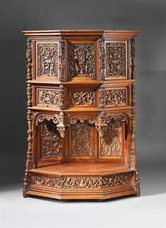 Renaissance dressoir with ornate decoration circa 1530