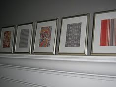 Scrapbook paper put into Frames makes cheap and cute wall art for any room!