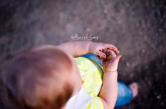 ONE year photoshoot.  Get the kid in the natural element. Let them get dirty.   www.HannahSons.com/blog