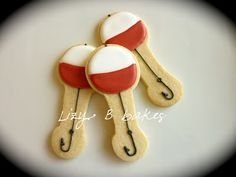 Lizy B: Fishing Cookies using the baby rattle cookie cutter