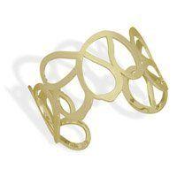 Gold Tone Fashion Cuff Braclet GLITZS. $32.50