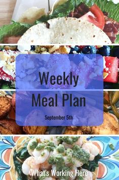 School is back in session which means after school activities, practices and games. It can be hard to get dinner on the table when you're running kids everywhere, but with a little planning you can get it done. Check out what is on this week's menu and how I plan around activities.