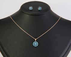 Winter Necklace, Snowflake Necklace, Sterling Silver Necklace
