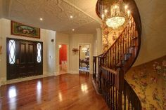 Grand Foyer King City, Grand Foyer, New Homes For Sale, Estate Homes, Ontario, Home And Family, Stairs, Home Decor, Ladders