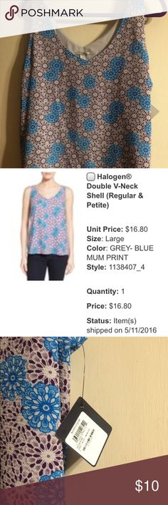 Halogen double v neck shell New with tags, from Nordstrom Halogen Tops Tank Tops