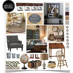 """""""Schoolhouse Chic With 4 Men 1 Lady"""" by jpetersen on Polyvore"""