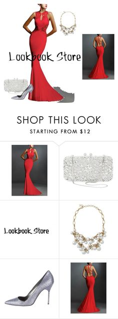 """In Red"" by catalina86 ❤ liked on Polyvore featuring Natasha Couture, Manolo Blahnik, womensFashion, lookbookstore and WomensClothingOnline"