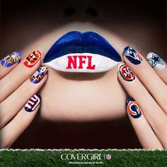 "COVERGIRL announces partnership with NFL for first ever ""Fanicures""!"