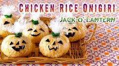Create Eat Happy :): Halloween Jack-o'-Lantern Chicken Rice Onigiri Ric...