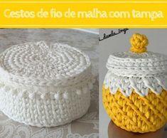 DIY: Bolsa de crochê #1 ⋆ De Frente Para O Mar Crochet Slippers, Crochet Home, Paper Flowers, Decorative Bowls, Embroidery Designs, Projects To Try, Crochet Patterns, Basket, Fabric