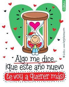 Entre más tiempo más te quiero-Chiqui en un reloj de arena © ZEA www.tarjetaszea.com