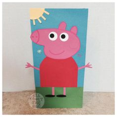 Hey, I found this really awesome Etsy listing at https://www.etsy.com/listing/206254634/peppa-pig-favor-bags
