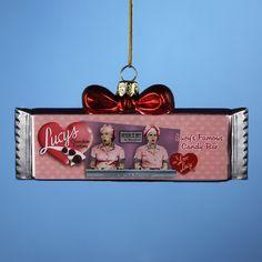 I Love Lucy Chocolate Bar Ornament | LucyStore.com, $12.95