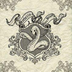 Slytherin Crest on Behance -- Nevodnichek Yana - katerinburg, Russian Federation