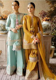Pakistani Fashion Party Wear, Pakistani Wedding Outfits, Indian Party Wear, Indian Fashion Dresses, Pakistani Bridal Dresses, Pakistani Dress Design, Indian Designer Outfits, Bridal Outfits, Pakistani Gharara