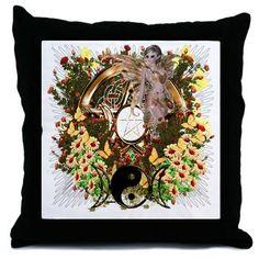 Pentacle Fairy Art Throw Pillow