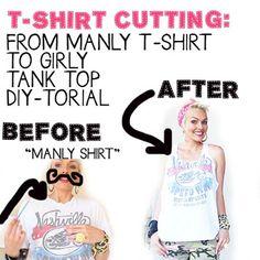 kandeej.com: DIY T-shirt Cutting: T-shirts to Cute Tank Tops: