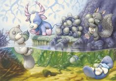 Tatty Teddy - Blue Nose Friends - Springtime Pond By: ShaneMadeArt Tatty Teddy, Teddy Pictures, Pictures To Draw, Cute Pictures, Bear Graphic, Blue Nose Friends, Friends Wallpaper, Love Bear, Bear Toy