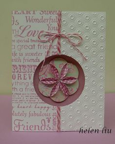 Window card idea with 6-Petal folded flower