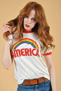American Love Rainbow Tee #tshirt #design #inspire