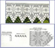 Resultado de imagem para graficos de cortinas em crochê