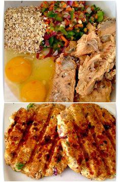 Grilled hamburgers cooked salmon, eggs, oats, onion, pepper and carrot Hamburguesas a la parrilla de salmon cocido, huevos, avena, cebolla, pimiento y zanahoria Subido de Pinterest. http://www.isladelecturas.es/index.php/noticias/libros/835-las-aventuras-de-indiana-juana-de-jaime-fuster A la venta en AMAZON. Feliz lectura.