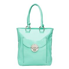 Love the colour. Love that it holds a laptop and an iPad.       Mimco Turnlock Tote (Seafoam) in patent   $499.00