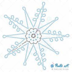 Crochet ideas that you'll love Free Crochet Snowflake Patterns, Crochet Symbols, Crochet Stars, Christmas Crochet Patterns, Holiday Crochet, Crochet Snowflakes, Thread Crochet, Cute Crochet, Crochet Stitches