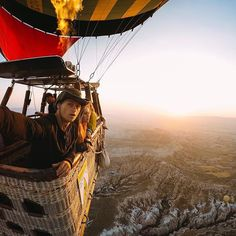 Photo of the Day: No wings, no worries. @cmekisarnolds catches a #sunrise while floating above the unique landscape of Cappadocia, #Turkey. • • • @GoProME #GoProME #HERO5 #HotAirBaloon #GoProTravel