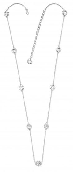 Station Long Length Button necklace
