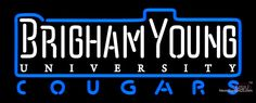 Brigham Young Cougars Wordmark   Logo NCAA Real Neon Glass Tube Neon Sign,Affordable and durable,Made in USA,if you want to get it ,please click the visit button or go to my website,you can get everything neon from us. based in CA USA, free shipping and 1 year warranty , 24/7 service