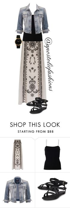 """Apostolic Fashions #1313"" by apostolicfashions on Polyvore featuring Temperley London, T By Alexander Wang, maurices and Larsson & Jennings"
