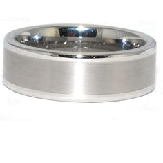 This classic design Tungsten wedding band is great for any man's style, with high-polished edges on both sides of a satin finished center. The comfort fit of the ring allows easy wear from day to night. 8MM wide, any finger size, for only 250!