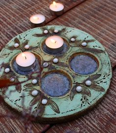 Clay Candle Holders, Ceramic Light, Clays, Sacred Art, Ceramic Pottery, Advent, Ceramics, Holidays, Winter