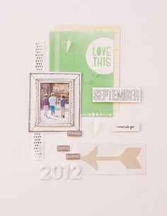 childhood memories I scrapbooking layout I mojosanti I Sandra Dietrich I #papercraft #scrapbook #layout