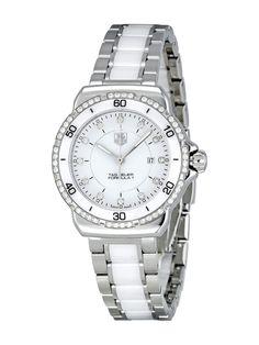 Women's Formula 1 Midsize Diamond, Stainless Steel, & White Ceramic Watch