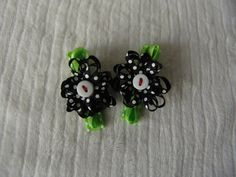 Black with White Polka Dot Hair Clips by Vikster on Etsy, $3.75