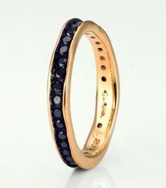Black Diamond Wedding Band / Wedding Style Inspiration / LANE