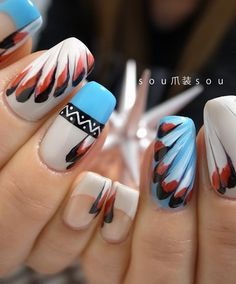 Native american nail art fashion nails pinterest native aztec nail art see more native american prinsesfo Gallery