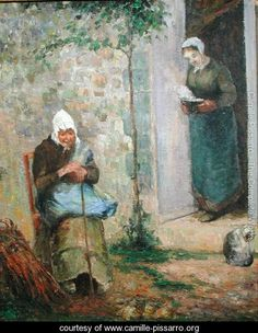 Charity, 1876 - Camille Pissarro