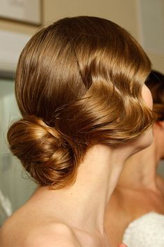 Wedding day hair from the Mark Zunino Spring 2013 bridal runway show. See more bridal beauty looks: http://ccwed.me/Izo9HA