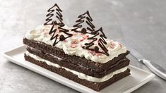 Peppermint Cream Brownie Torte