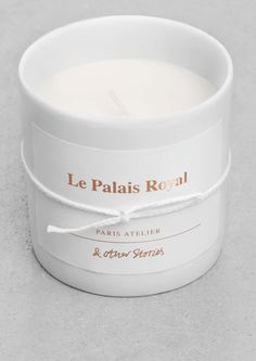 & Other Stories | 'La Palais Royal' Scented Candle.  French 'Le Palais Royal' is named after one of our favourite places in the Paris Atelier area. Gentle gardenias and dreamy magnolias melt together with delicious plums, seizing the heart of our milieu.
