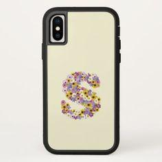Monogram letter S iPhone X Case - initial gift idea style unique special diy