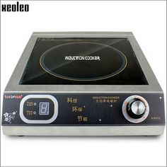 295.00$  Buy now - http://alinu8.worldwells.pw/go.php?t=32694568511 - Xeoleo Commercial Induction cooker 3500W  Stainless steel Induction cookers with timing  for hotpot/soup stewing/stir-fly