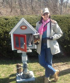 Can't wait to get my free library out for the summer. Just have to decorate it! Thanks to my sister's husband for making it! Little Free Libraries, Little Library, Free Library, Library Ideas, Library Books, Old Saybrook, Reading Corners, Cozy Nook, Community Building