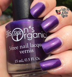 Incredible purple nail polish, 3 Free and vegan in Husky Purple. By Ellison's Organics. #nails #nailart #nailpolish #nail #purple #universityofwashington #uw #huskies